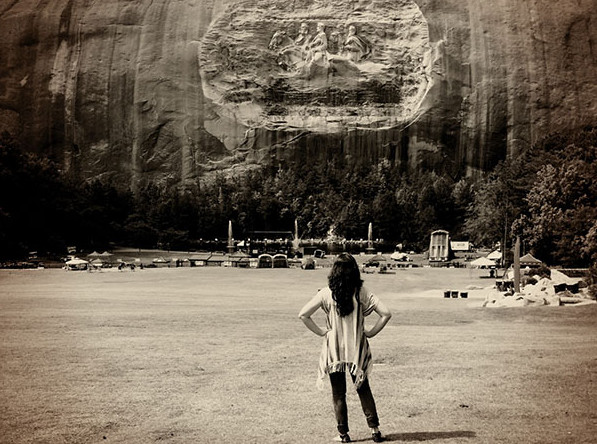 facing stone mountain